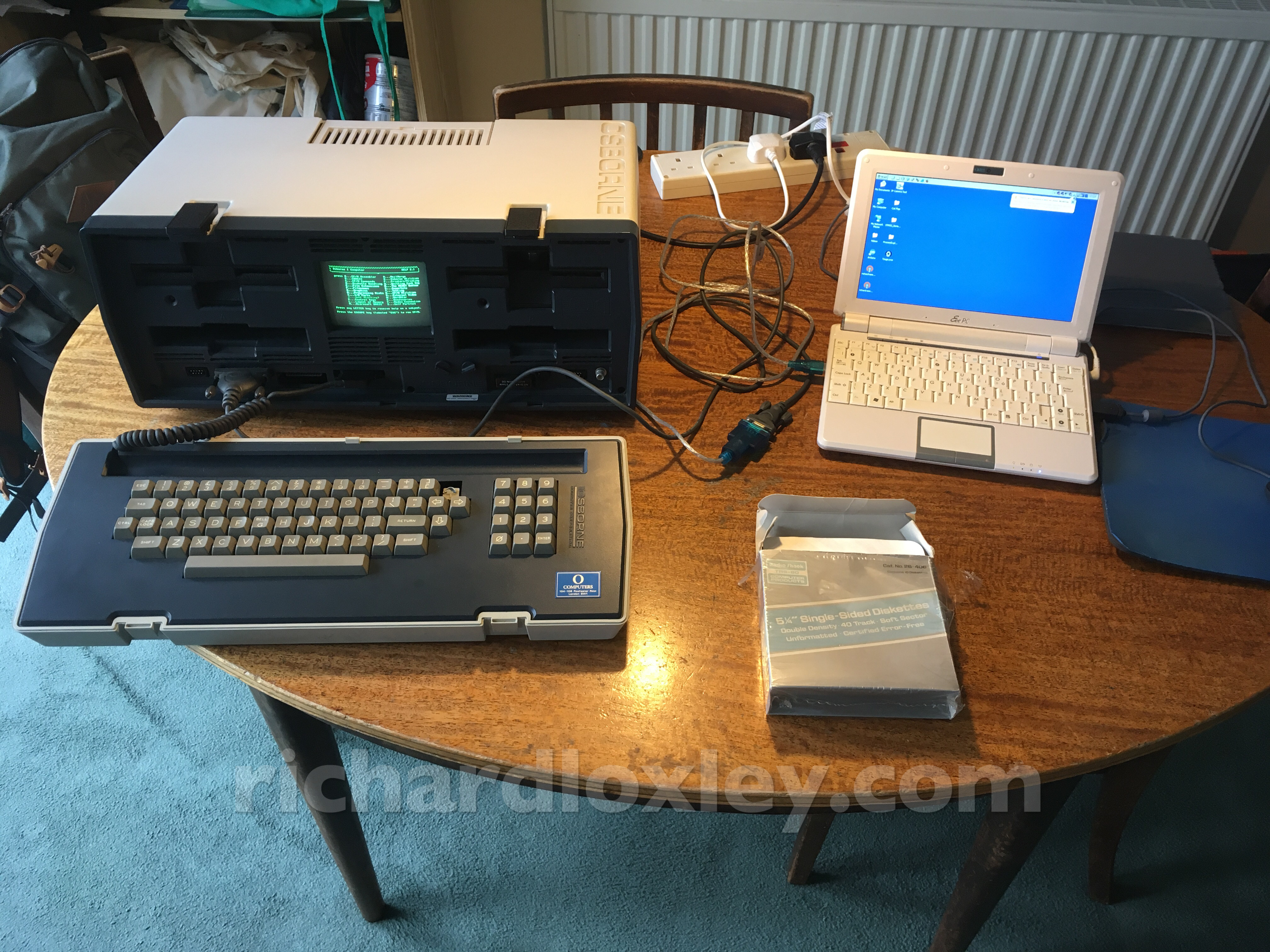 Osborne Restoration part 8: transferring files with an RS232